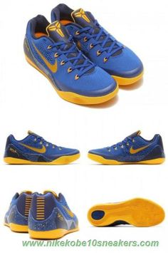 379aba0d464b Deals On Nike Kobe 9 EM 653593-401 Gym Blue University Gold-Obsidian