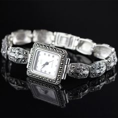 Cheap watch pearl, Buy Quality watch combine directly from China watch battery replacement kit Suppliers: New Limited Classic Rectangle Elegant Silver Thai Silver Bracelet Watches Thailand Process Rhinestone Bangle Dresswatch Cheap Watches, Bangles, Bracelets, Rolex Watches, Bracelet Watch, Pearls, Thailand, Elegant, Classic