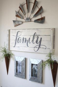RUSTIC FAMILY SIGN Family decor sign family gallery wall