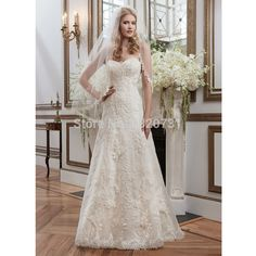 2017 New Arrival Hot Sale Applique Lace Sexy  A-line Sweetheart Wedding Dress Off The Shoulder Bridal Dress Vestidos De Noiva