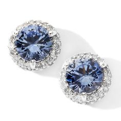 Diamond studs are divine... but paired with blue sapphire they are delectable. Perfect with everything in my jewelry wardrobe... xo