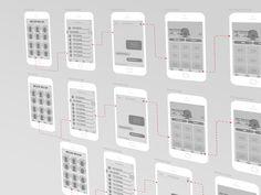 App Wireframe by Mert Öztopkara