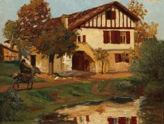 home in the basque country in oil