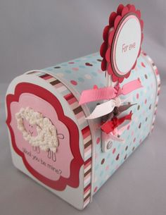 Cute Valentines idea with RaisinBoat stamps and Target mailbox