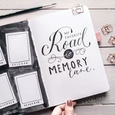 bullet journal octobre My favorite road is memory lane, Handlettering sprche leben, memories, lettering sprche, lettering videos Journal Fonts, Bullet Journal Aesthetic, Bullet Journal Writing, Bullet Journal Inspo, Journal Pages, Journals, Mom Drawing, Drawing Hands, Drawings For Boyfriend