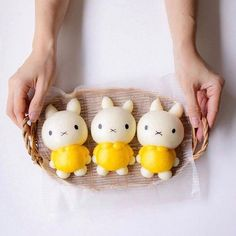 Miffy steamed buns by Little Miss Bento・Shirley シャリー ( Steamed Cake, Steamed Buns, Cute Desserts, Asian Desserts, Japanese Food Art, Cute Baking, Bread Shaping, Bread Art, Cute Buns