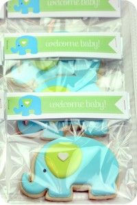 Elephant Baby Shower Cookies ( favors ) make and ice at home