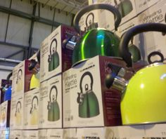 Prima Whistling Kettles at the October Caravan and Motorhome Show 2013 at Birmingham NEC \\ Such lovely colours!