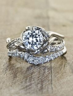 Featured engagement ring: Ken and Dana Design