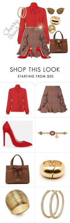 """Cherry Beauty"" by jfcheney ❤ liked on Polyvore featuring WithChic, Manoush, Lauren Marinis, Gucci, Kate Spade, Roberto Coin and Ahlem"