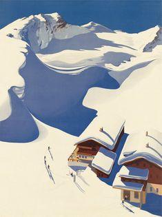 Artwork for my imaginary cabin  Austria, Ski Lodge in the Alps