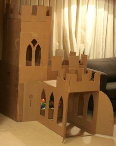 cardboard castle cat - Google Search