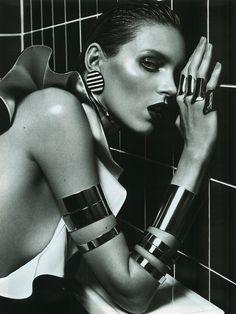 Anja Rubik - Vogue Paris by Mario Sorrenti, March 2013