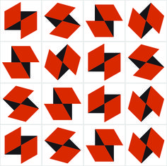 Folds (tile) 2016 Ligia de Medeiros