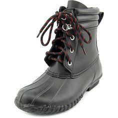 American Living Lyndsey Women Round Toe Synthetic Black Rain Boot #rainfootwear