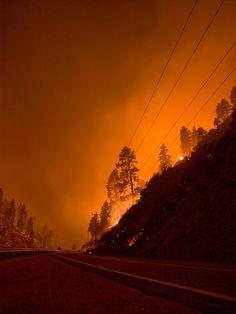 The Springs Fire, Banks-Garden Valley, Idaho, Boise National Forest, August 7, 2012, Kari Greer