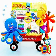 baby Neptune baby gift basket | Baby Einstein Water Wagon | MonsterMarketplace.com grandmas cookie palace haha very funny grandma I love these baby gifts also