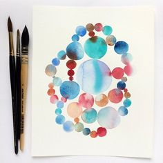 Original abstract watercolour painting inches by Zoya Makarova. Salt Painting, Winsor And Newton Watercolor, Art Videos For Kids, Simple Christmas Cards, Watercolor Art Diy, Australian Artists, Geometric Shapes, Original Paintings, Etsy Seller
