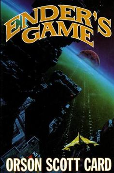 Ender's Game - Orson Scott Card  Child-hero Ender Wiggin must fight a desperate battle against a deadly alien race if mankind is to survive.  352 pg. ; pb available ; Grades 7+