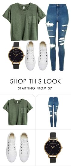 """#84"" by iamariot7 ❤ liked on Polyvore featuring Topshop, Converse and Olivia Burton"