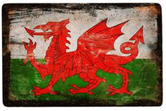 Welsh flag- one of the last remaining after invasion