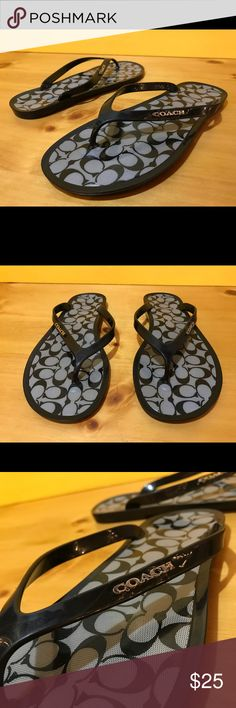 Women's Size 5 Black Coach Slip On Sandals Women's Size 5 Black Coach Slip On Sandals. See photos and please message with any questions! :) Coach Shoes Sandals
