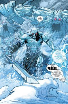 Freeze on Dark Knights Metal Marvel Dc Comics, Dc Comics Art, Cosmic Comics, Batman Metal, Batman Art, Batman Robin, Comic Books Art, Comic Art, Comic Character