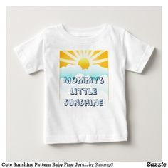 Cute Sunshine Pattern Baby Fine Jersey T-Shirt
