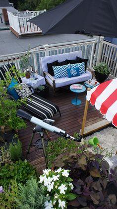 Rachel's Nautical Rooftop Garden Small, Cool Outdoors Entry #31
