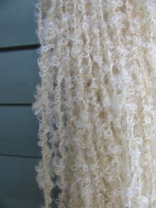handspun white mohair boucle yarn
