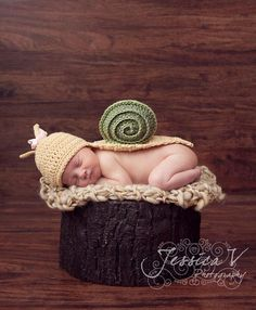 PDF Crochet Pattern - Original Snail Shell Hat And Body Cover Crochet Newborn…
