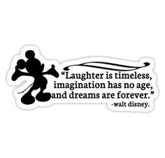"walt disney sayings | Walt Disney Quote"" Stickers by stevebluey | Redbubble"