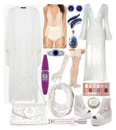 """""""Layers of lace"""" by lenbb ❤ liked on Polyvore featuring Calvin Klein Underwear, ASOS, Monsoon, BERRICLE, Allurez, JY Shoes, Effy Jewelry, Maybelline, CB2 and Victoria's Secret"""