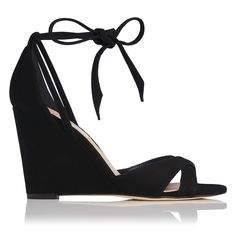 4ebe620e52ad46 Henrietta Black Suede Formal Sandals