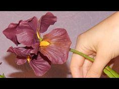Видео мастер-класс по лепке ириса из холодного фарфора. Часть первая: цветок - Ярмарка Мастеров - ручная работа, handmade