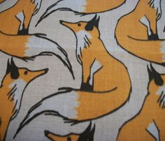 Red Cream Fox Kona cotton fabric