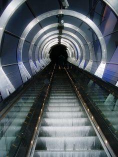 the tube.  London, England