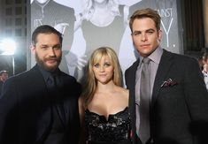 "Chris Pine Photos Photos - (L-R) Actors Tom Hardy, Reese Witherspoon and Chris Pine attend the premiere of Twentieth Century Fox's ""This Means War"" held at Grauman's Chinese Theatre on February 8, 2012 in Hollywood, California. - Premiere Of Twentieth Century Fox's ""This Means War"" - Red Carpet"