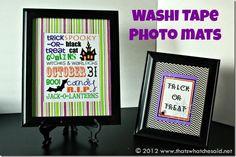 Washi Tape Photo Mats Great way to spice up boring frame mats! #washitape #crafting