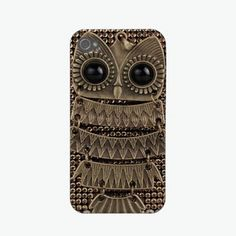 Metal Owl iPhone 4 Cover. Owl enthusiasts rejoice. Via Zazzle. Why yes I think I need to get my iphone now :)