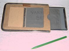 "Vintage ""Printator"" magic notepad (c.1950s) (SOLD May 2007) - www.vanishederas.com"