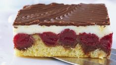 Austrian/Bavarian Donauwellen Cake recipe from Viking River Cruises Pastry Recipes, Gourmet Recipes, Cake Recipes, Dessert Recipes, Cookie Desserts, Just Desserts, Viking Food, Kolaci I Torte, Take The Cake