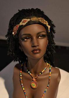 Regal african queen – Fashion Ideas And Suggestions African Dolls, African American Dolls, Diva Dolls, Bjd Dolls, Vintage Barbie, Beautiful Barbie Dolls, Pretty Dolls, Realistic Dolls, Barbie Collection