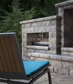 The Euro fireplace from the Belgard Elements Collection gives any patio a contemporary feel.
