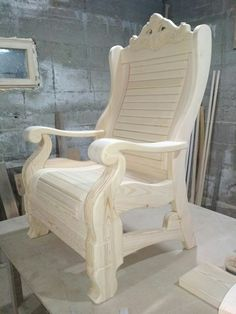 Wood Chair Design, Wooden Sofa Designs, Wooden Main Door Design, Sofa Set Designs, Diy Furniture Building, Deck Furniture, Furniture Design, Furniture Plans, Wooden Office Chair