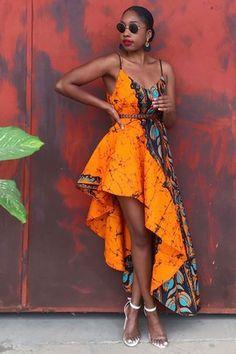 Robes wax | Robe portefeuille et longue en tissu africain - Afrikrea