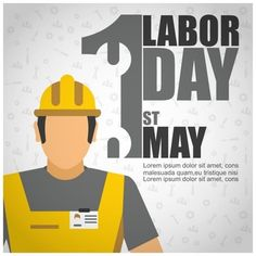 """Labor Day is to pay a tribute to all the people who work every day. All work is very important. """"We wish you all a great Labor Day"""". Happy Labor Day, Vector Photo, Backgrounds Free, Grafik Design, Vector Free, People, Drawing Techniques, Grief, Poster"""