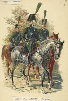 Regno di Napoli - Guardie dei dazi indiretti a cavallo