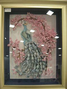 Koza tablo (tavus kuşu) Serpil Smr (the cocoon decorative arts)