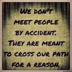 Everything happens for a reason! I wonder whose path you will cross at #eWNconf !